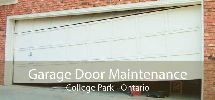 Garage Door Maintenance College Park - Ontario