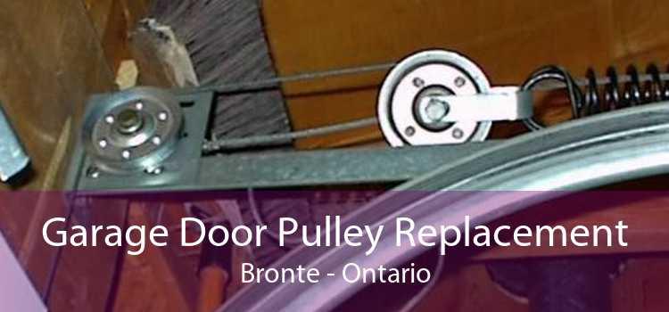 Garage Door Pulley Replacement Bronte - Ontario