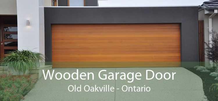 Wooden Garage Door Old Oakville - Ontario